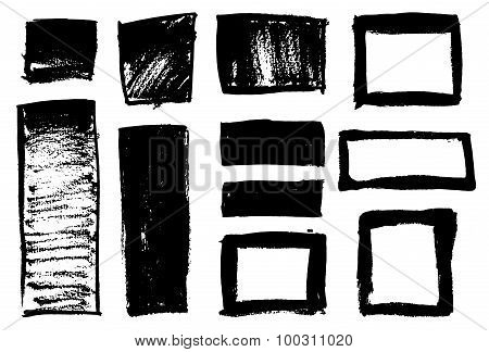 Black brush strokes