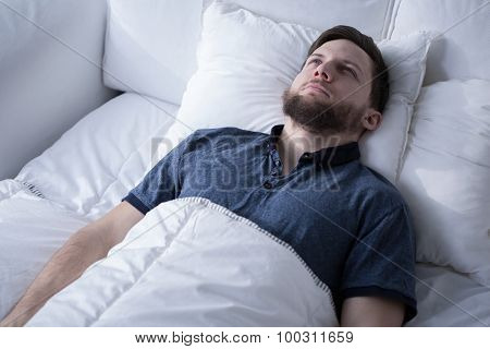 Handsome Male With Sleep Disorder