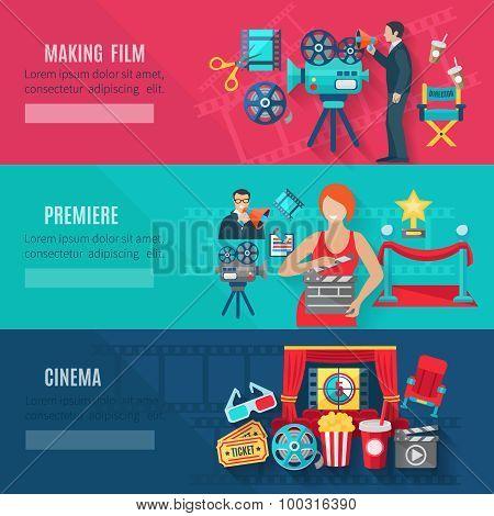 Filmmaking Banners Set