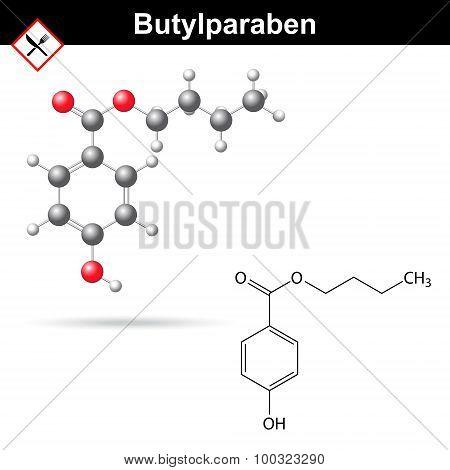 Butylparaben Molecule