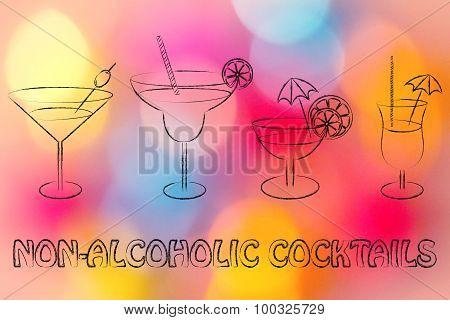 Non-alcoholic Cocktail Recipes Illustration