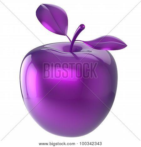 Purple Apple Food Blue Research Experiment Nutrition Fruit Icon