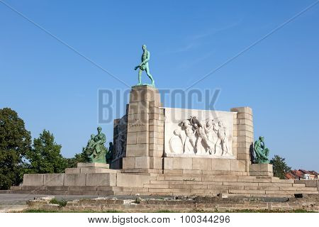 Monument To Labour In Brussels, Belgium