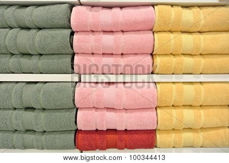 Stack Of Towels In The Closet