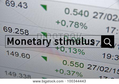 Monetary stimulus