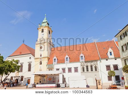 Old Town Hall (xiv-xvi Cc.) In Bratislava, Slovakia