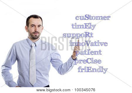 Customer Timely Support Innovative Patient Precise Friendly Service