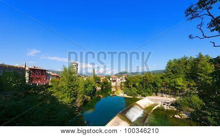 Natisone River in the medieval town of Cividale del Friuli Udine Friuli Venezia Giulia Italy poster