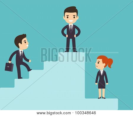 Corporate Ladder And Glass Ceiling