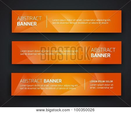 Abstract banner design