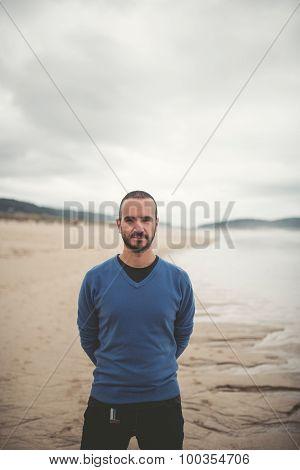 Man Portrait On The Beach