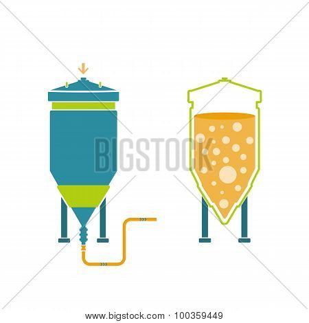 Infographics technology of beer production