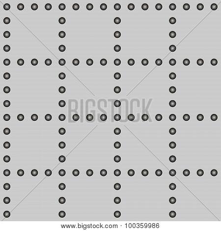 Gray Rivet Grid Seamless