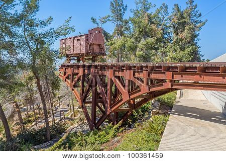 Holocaust train at Yad Vashem in Jerusalem