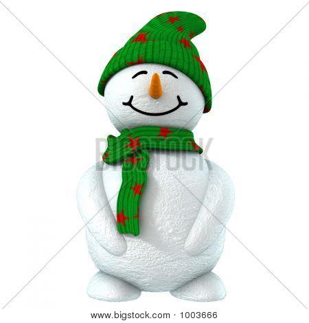 3D Snowman Child