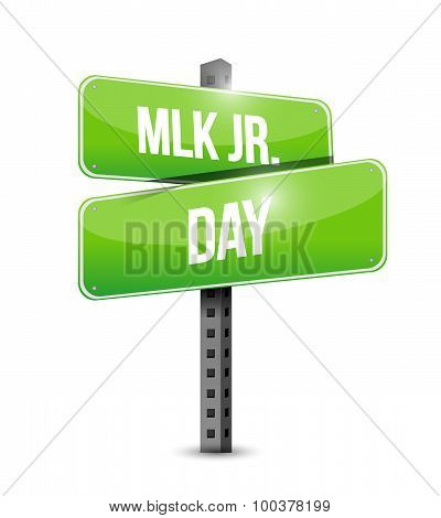 Mlk Jr. Day Arrow Sign Illustration Design