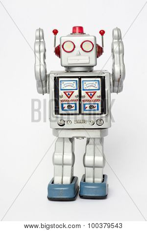 robot toy surrender