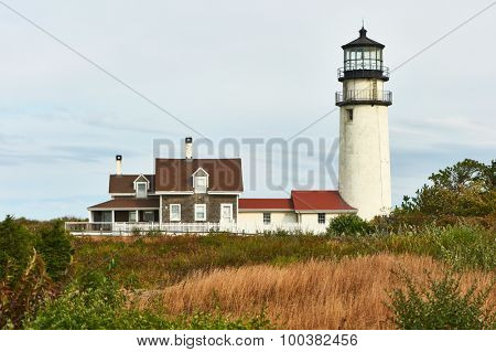 Highland Lighthouse, oldest and tallest on Cape Cod, Massachusetts, USA.