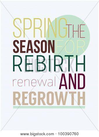 Fresh motivational spring poster