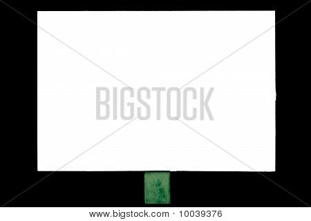 Banner On A White Background Isolated On Black