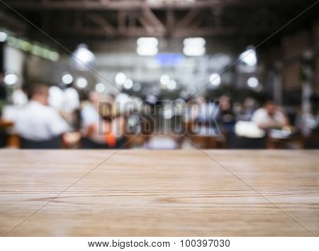 Table top Blurred People In Restaurant Bar Cafe Office party Background