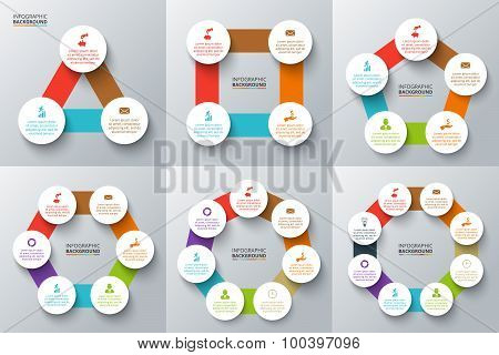 Vector elements for infographic.