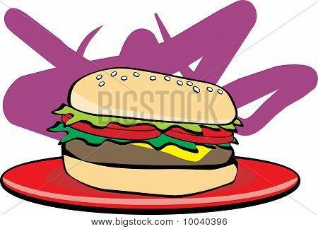 Colored Hamburger