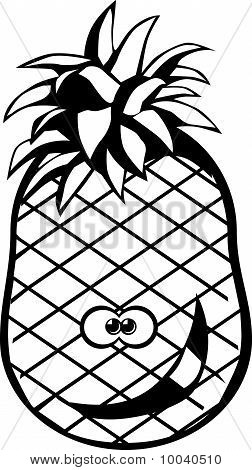 Pineapple black and white