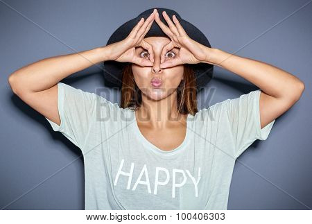 Ethnic Woman Making Funny Face