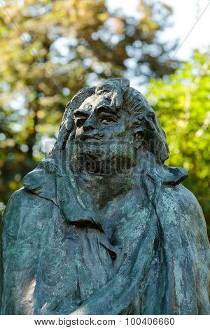 PARIS, FRANCE - SEPTEMBER 12, 2014: Paris - Rodin Museum.The Monument to Balzac