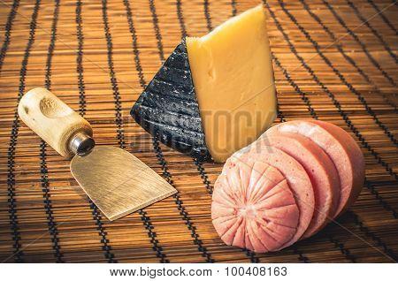 pecorino sardo and mortadella bologna sausage cheese food italian recipe