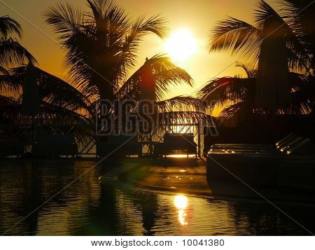 Pool In Sunset