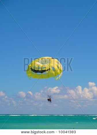 Parachute In Blue Sky