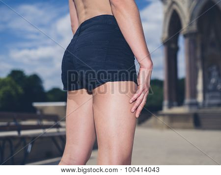 Rear View Of Sexy Fitness Woman