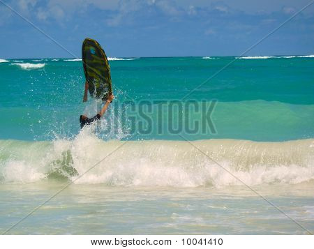 Sufer In The Waves