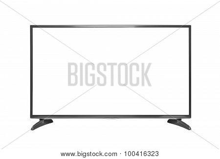 TV set isolated on white background.