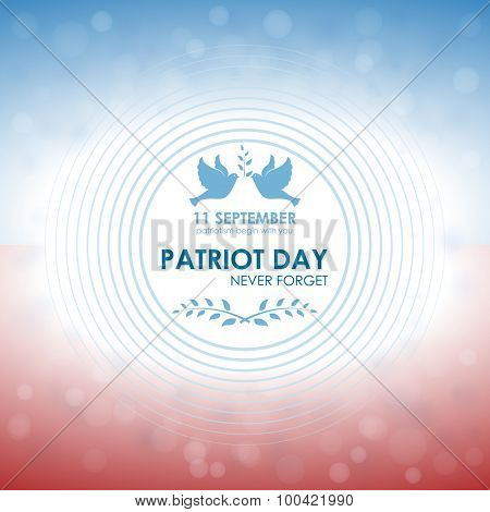 Patriot day. Abstract greeting card celebration. Vector background 10eps.