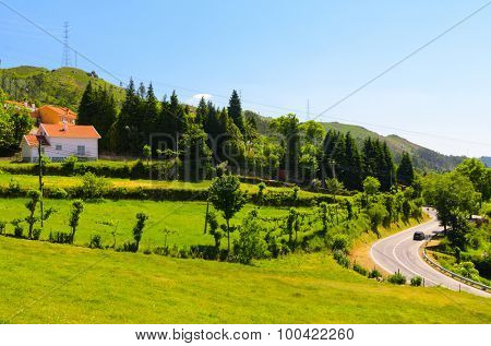 scenic view of Peneda-Geres National Park in northern Portugal. poster