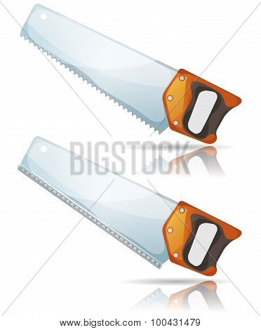 Hand Saw Tool With Steel Blade And Teeth