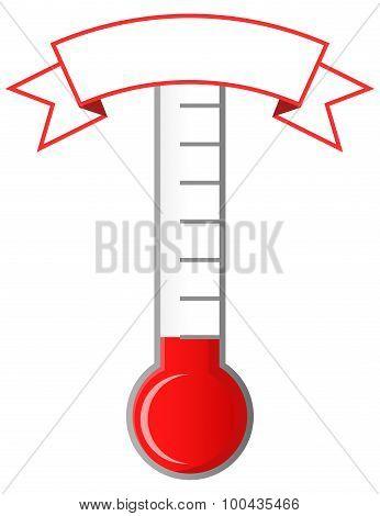 Achievement meter with blank banner