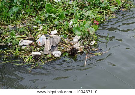 Garbage In The Chao Phraya River