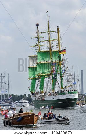 Back View Of The Alexander Von Humboldt Tall Ship