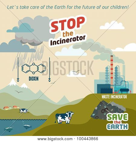 Stop The Incineratior Illustration