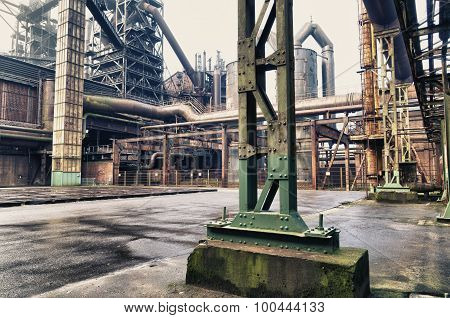The Landschaftspark Duisburg-Nord is a public park in the German city of Duisburg. The centerpiece of the park is formed by the ruins of a blast furnace complex shut down in 1985.