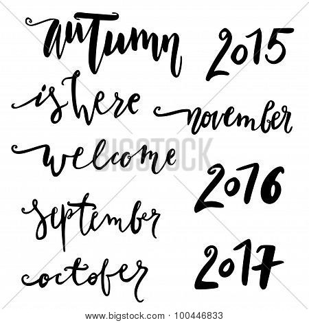 Hello october. Hand drawn lettering.