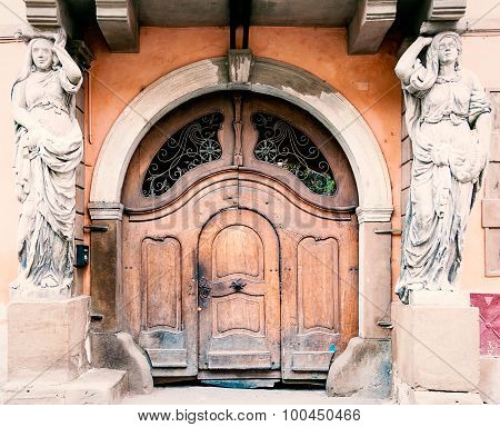 Ancient entrance in Romania