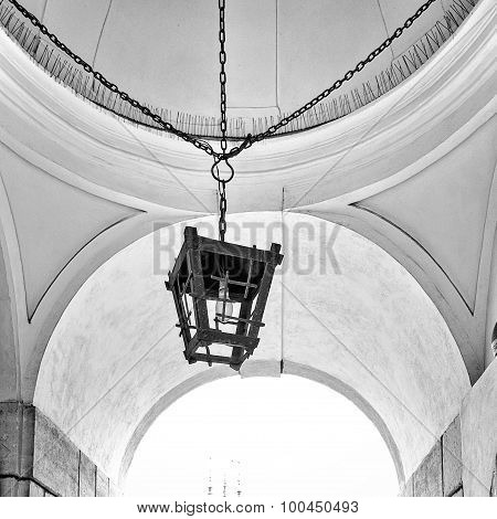 Old street lamp and ceiling