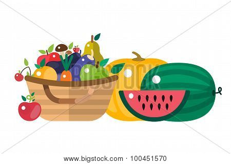Harvest time vector illustration