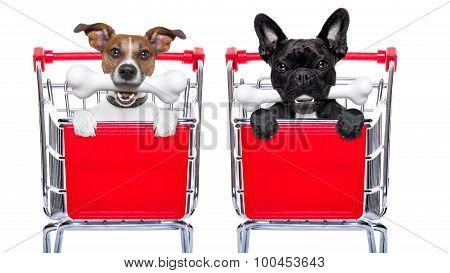 Shopping Cart Dogs