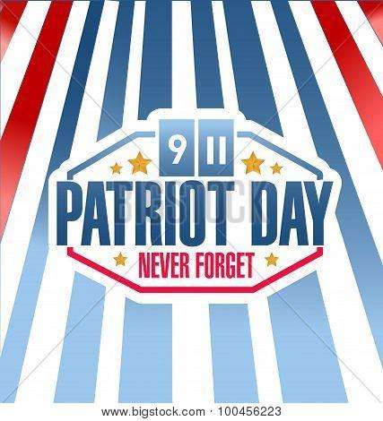 Patriot Day Stripes Background Illustration
